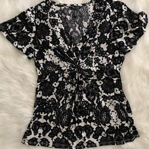 Knotted front blouse